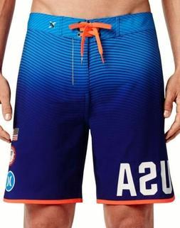 HURLEY Phantom US Olympic Team BLUE Board Shorts Swim Trunks