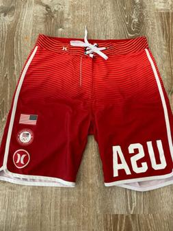 HURLEY Phantom USA Olympic Team E Pluribus Unum Boardshorts