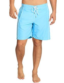 Premium Men's Light Blue Swim Trunks with UPF 50+ Quick Dry
