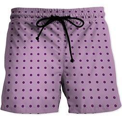 MOOCOM Quick-Drying Swim Trunks Board Shorts with Pocket,Mau
