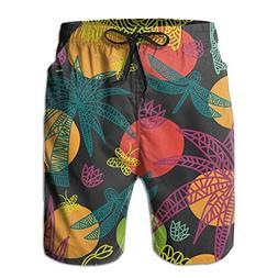 MSACRH Rainforest Men's Summer Fast Dry Beach Shorts Swim Tr
