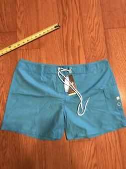Tesla Rashguard Boad Shorts Womens Size XXL Teal Blue Bathin