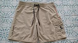 Maui Ripper Beige 100% MicroFibre Polyester Board Shorts Sup