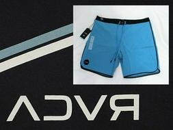 "RVCA South Eastern Trunk Boardshorts 18"" . Blue/Black.Size V"