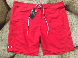 UNDER ARMOUR Storm Boardshorts Swim Trunks Mens Size 42 Red