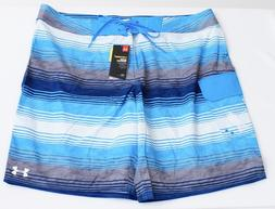 Under Armour Storm Reblek Electric Blue Striped Boardshorts