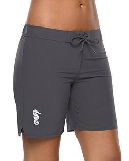Sociala Womens Boardshorts Swimwear Board Shorts Quick Dry S