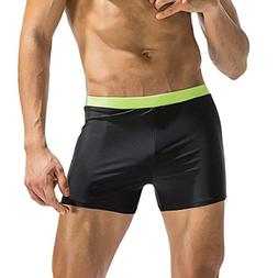 Elogoog Swim Trunks, Men's Swimming Trunks Boxer Brief Color