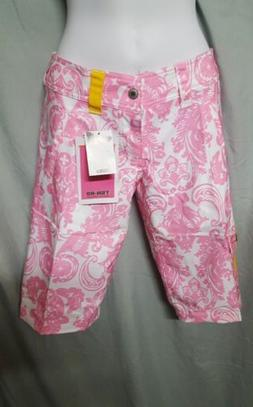 TEN-80 PINK/WHITE WOMENS LONG BOARDSHORT WAKE SURF SWIM SHOR
