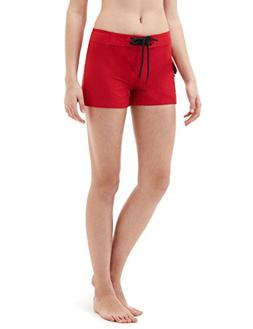 "Tesla TM-FSB01-RED_2X-Large Women's 2.5"" Swim Trunks Quick D"