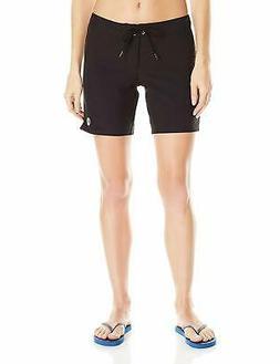 Roxy To Dye For True Black 7 Inch Board Shorts Swimsuit Cove