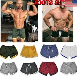 US Fashion Men Casual Shorts Sports Running Swimwear Beachwe