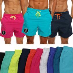 US Men Swimwear Sports Gym Run Shorts Casual Summer Beach Pa