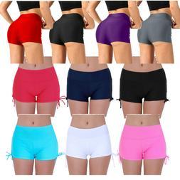 US Women Compression Shorts Swim Sports Fitness Running Pant