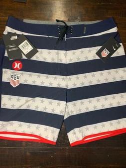 "USA Soccer Hurley x Nike Phantom Board Shorts 31W 18"" Leng"