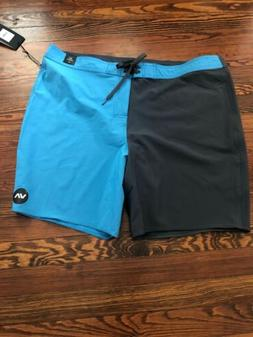 RVCA VA Trunk BOARDSHORTS  SZ 42 Blue And Gray 19 In Inseam