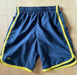 Vintage Nike Mesh Lined Swim Trunks Board Shorts - Gray Yell