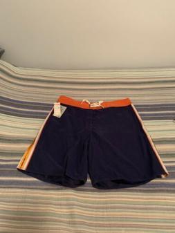 Quiksilver Waterman Board shorts -Navy Blue Orange Size 36