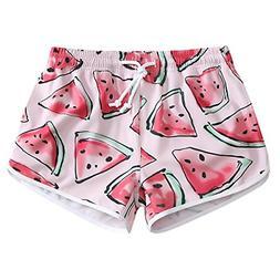 Women Quick Dry 4-Way Stretch Pink Watermelon Beach Board Sh