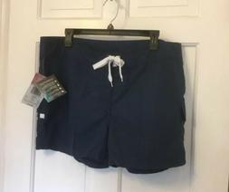 Kanu Surf Women's Board Shorts ~ Breeze Navy Blue Size 14 Ne