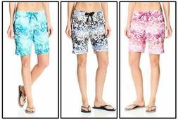 Women's Kanu Surf Board Shorts, Oceanside 1590, Black, Aqua,