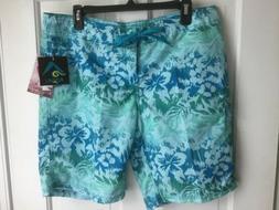 Kanu Surf ~ Women's Board Shorts ~ Size 10 Oceanside Aqua Bl