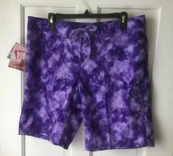 Kanu Surf ~ Women's Board Shorts ~ Size 12 Sydney Purple New