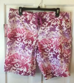 Women's Kanu Surf Board Shorts Size 12 Tropical Oceanside Pu