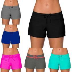 Women's Boardshort Beach Shorts Tankini Bottom Swim Briefs T