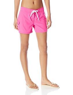 Kanu Surf Women's Breeze Solid Stretch Boardshort, Pink, 0