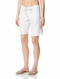 Kanu Surf Women's Marina Board Shorts, White, 14