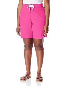 Kanu Surf Women's Plus Size Marina Solid Stretch Boardshort,