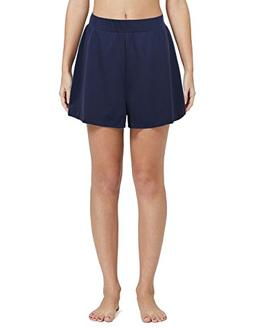 Nonwe Women's Solid A-Line Boyfriend Loose Board Shorts Navy