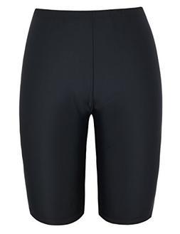 Firpearl Women's UPF50+ Sport Board Shorts Swimsuit Bottom C