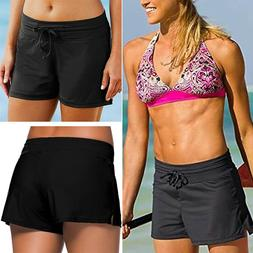Women Swim Shorts Bikini Bottom Boy Style Boardshorts Sports