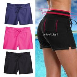 Women Swim Shorts Boardshorts Ladies Bikini Brief Bottoms Be
