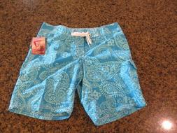 Kanu Surf Womens 10 Swimsuit bottoms Lanai blue Board shorts