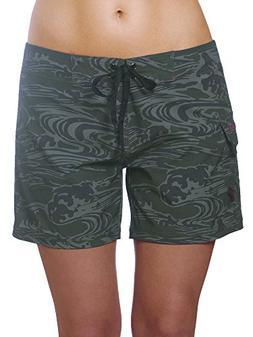 womens 4 way stretch 5 swim shorts