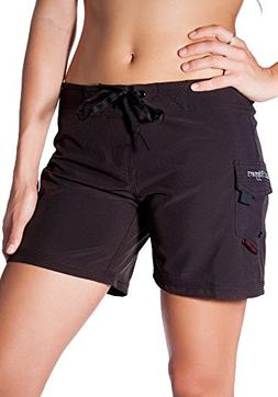 "Maui Rippers Women's 4-Way Stretch 5"" Swim Shorts Boards"