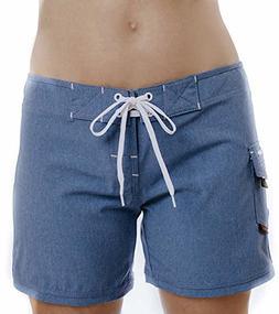 "Maui Rippers Women's 4-Way Stretch 5"" Swim Shorts Boards"