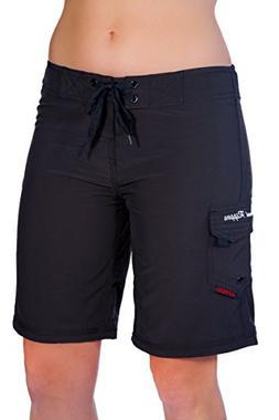 "Maui Rippers Women's 4-Way Stretch 9"" Swim Shorts Boards"