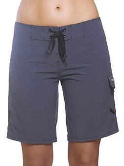 "Maui Rippers Women's 9"" 4-Way Stretch Swim Shorts Boardsho"