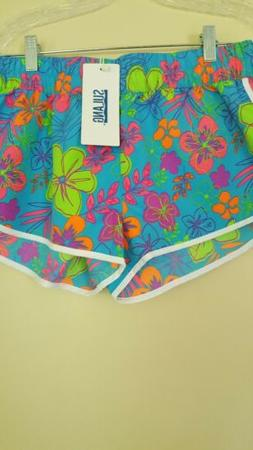 Sulang Womens Board Shorts US Sz Large Beach Athletic Floral