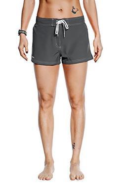 Unitop Womens Solid Board Shorts Bottom Trunks Boardshorts C