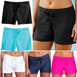 Womens Swimming Beach Pants Board Shorts Bikini Swim Shorts