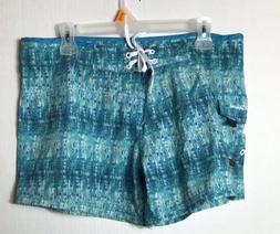 Maui Rippers Womens Turquoise Board Shorts Size 10