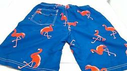 WUAMBO Athletic Men's Quickly Drying Board Shorts Flamingo P