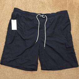 Goodfellow XXL Navy Blue Board Shorts 9 Inch Inseam Knee Len