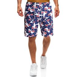 YASUGUOJI New 2019 Summer Fashion Printed Board Shorts Men <