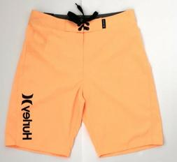 Hurley Youth Boys Orange Board Shorts Size 12/26 New With Ta
